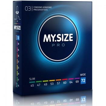 MY SIZE PRO PRESERVATIVOS 72 MM 3 UNIDADES